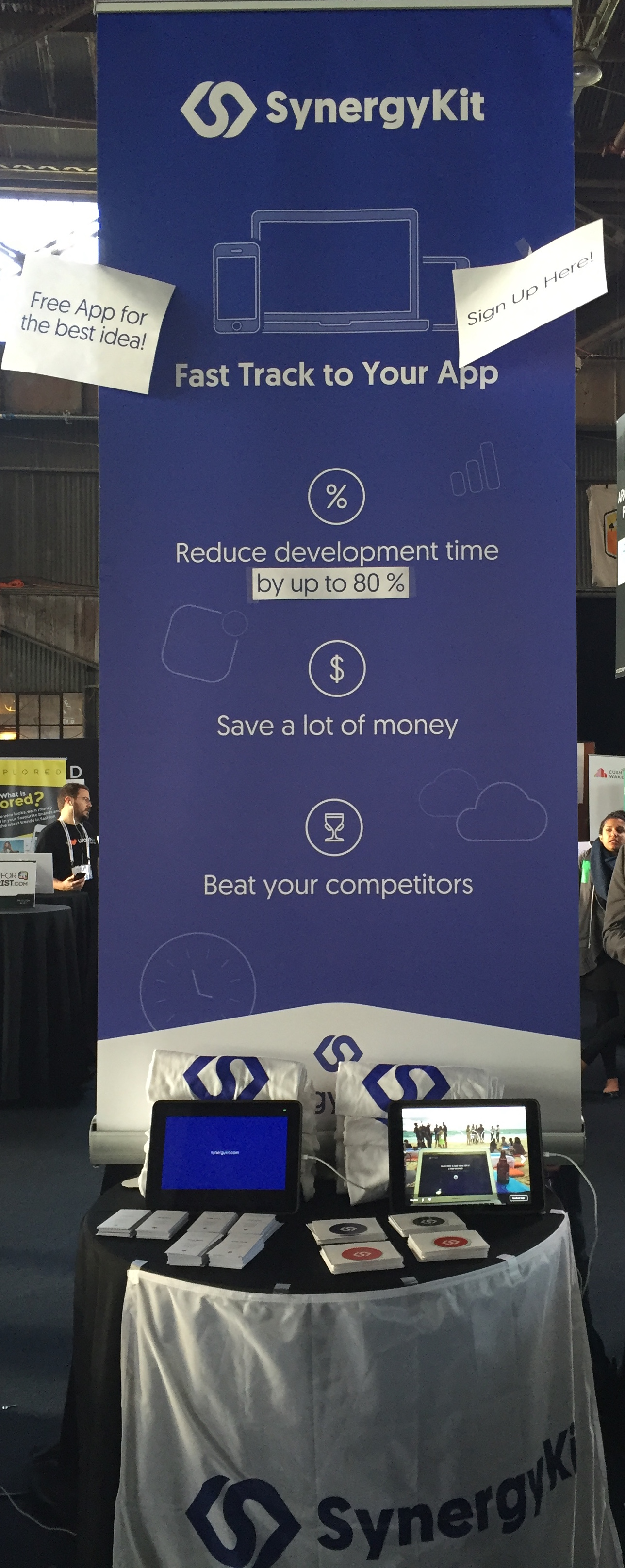 Booth at TechCrunch Disrupt