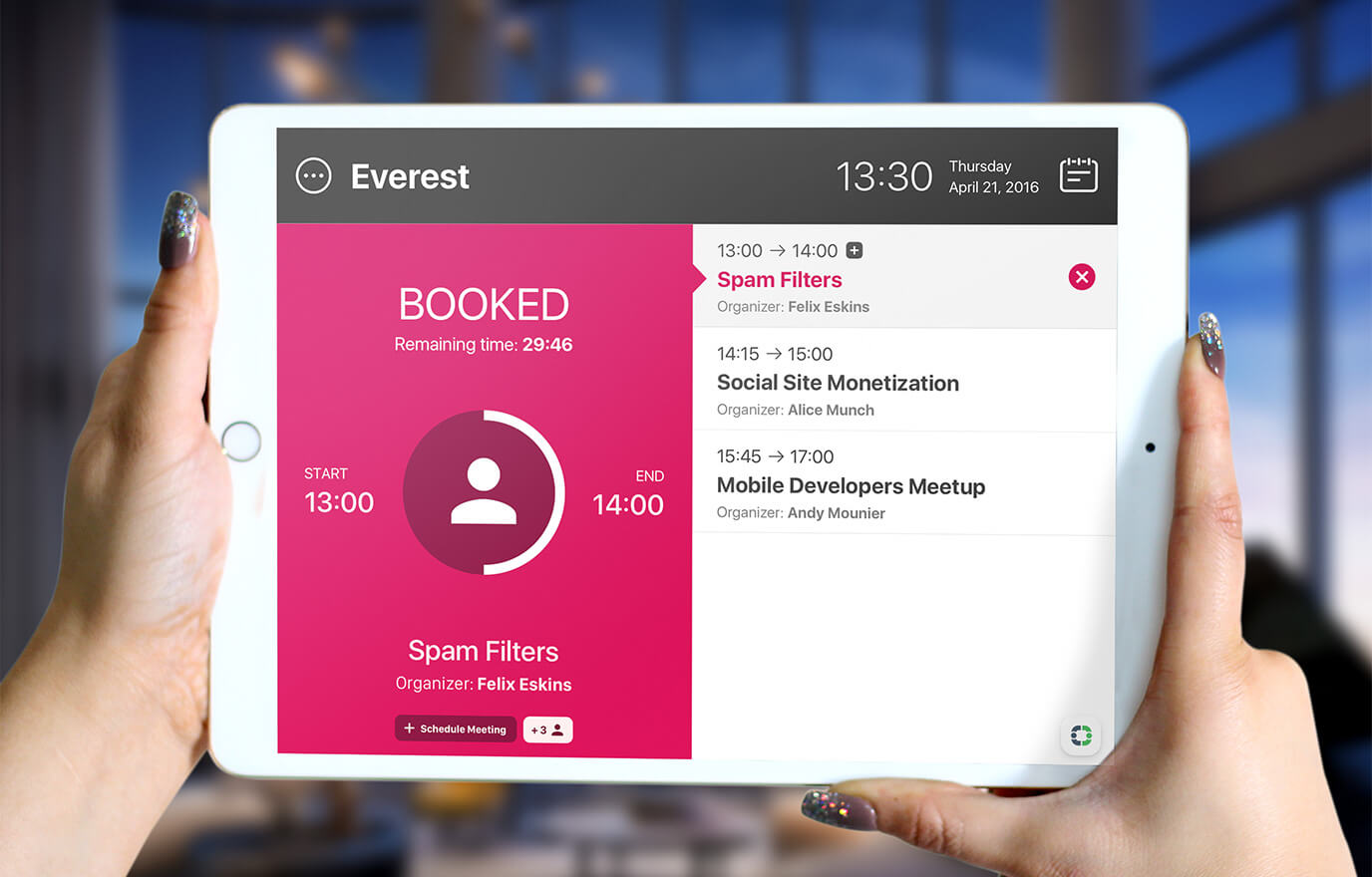 iOS meeting room booking app